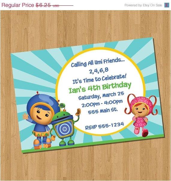 team umizoomi invitations