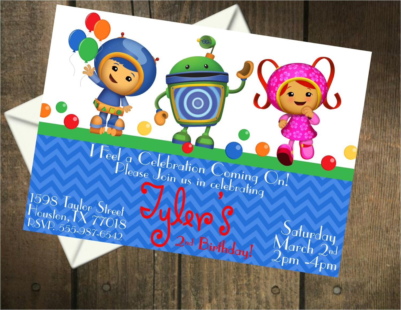 team umizoomi birthday party printable