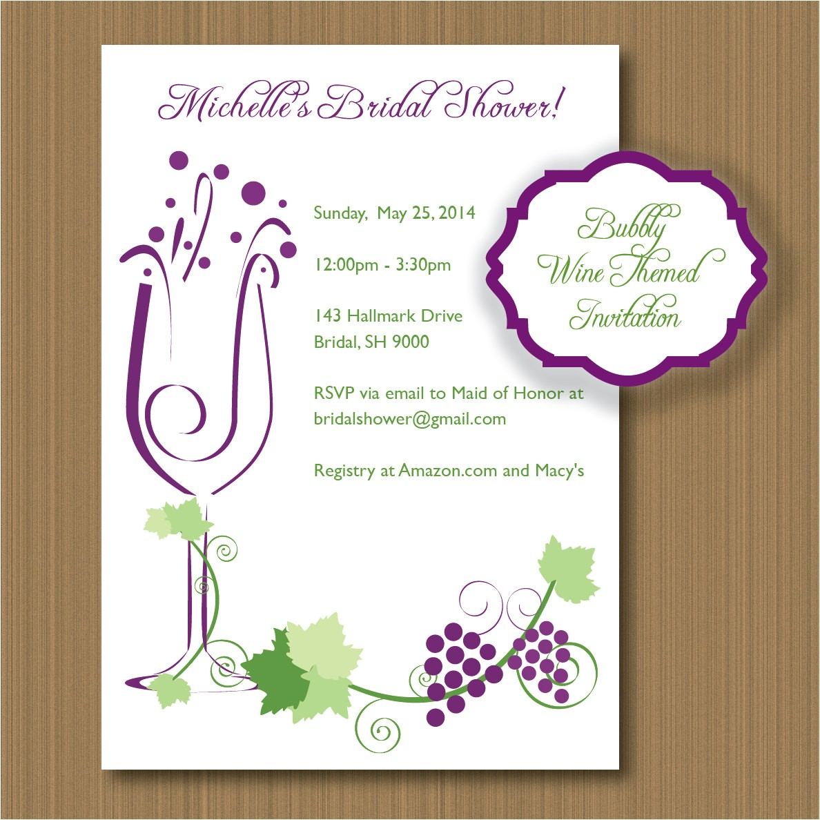 printable wine themed invitations