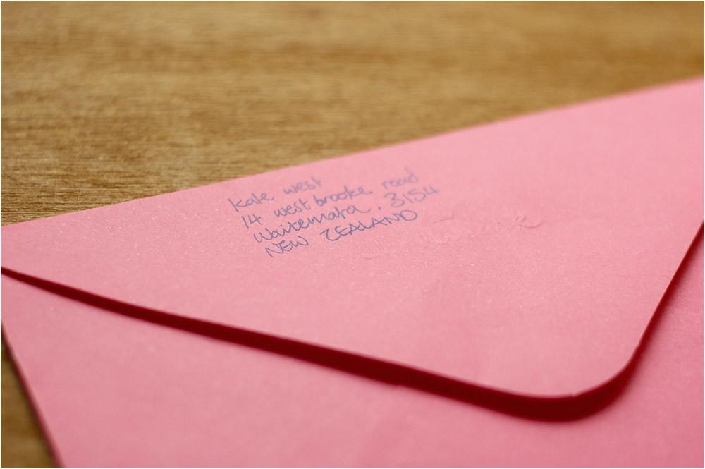 address bridal shower envelopes