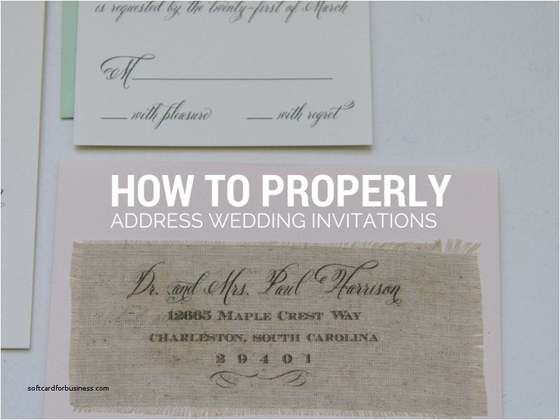 formal way to address wedding invitations