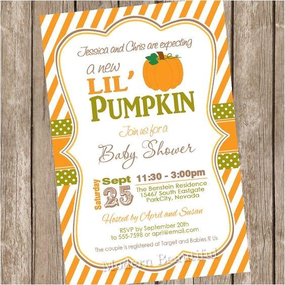 Pumpkin Baby Shower Invitations Etsy Fall Little Pumpkin Baby Shower Invitation orange Brown