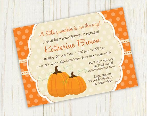 pumpkin baby shower invitation printable
