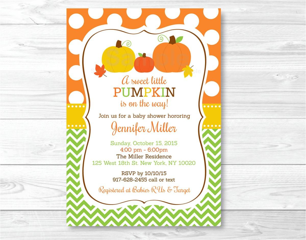pumpkin baby shower invitation pumpkin
