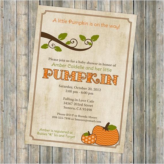 pumpkin baby shower invitations baby
