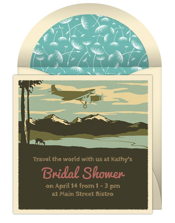 around the world theme bridal shower