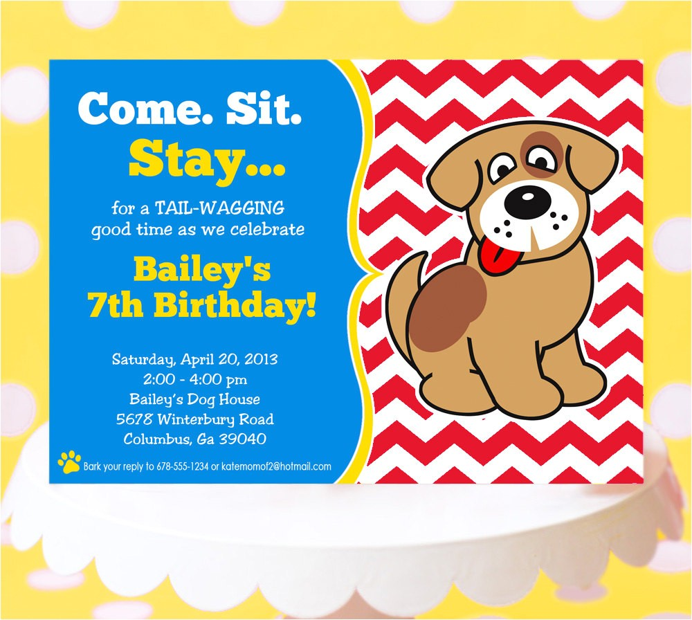 puppy party invitation puppy birthday