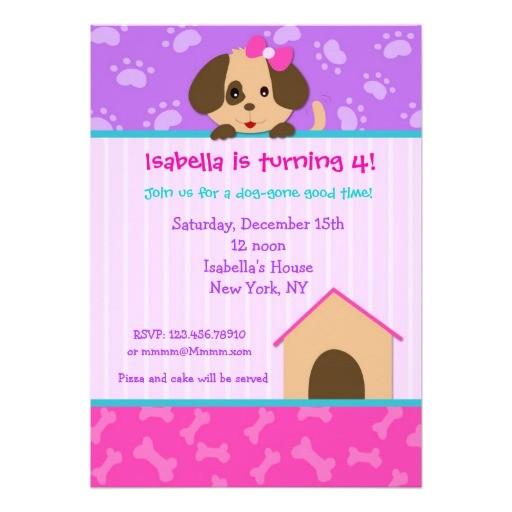 puppy dog birthday party invitations 161202680871961381