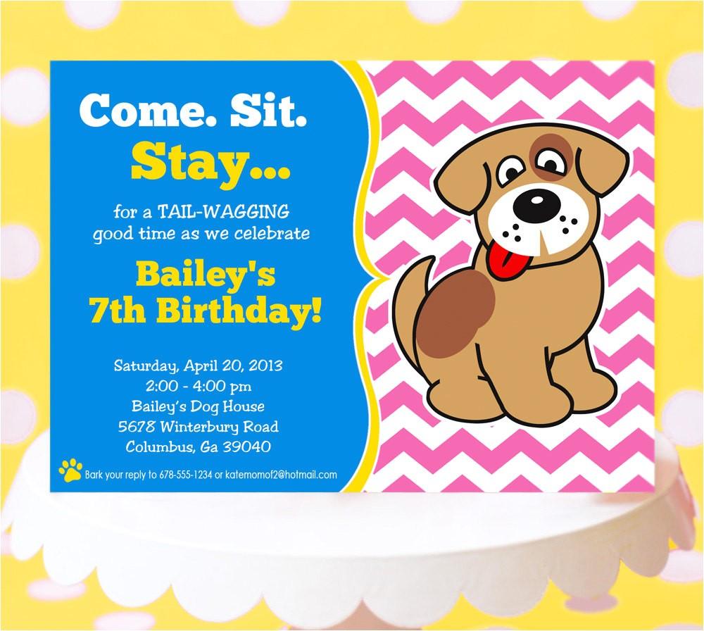 puppy party invitation puppy birthday