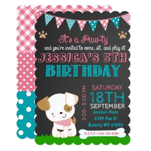 puppy party invitation puppy paw ty birthday 256982399797553695