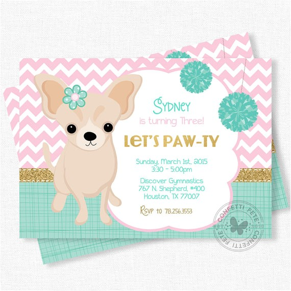 puppy party invitation dog birthday