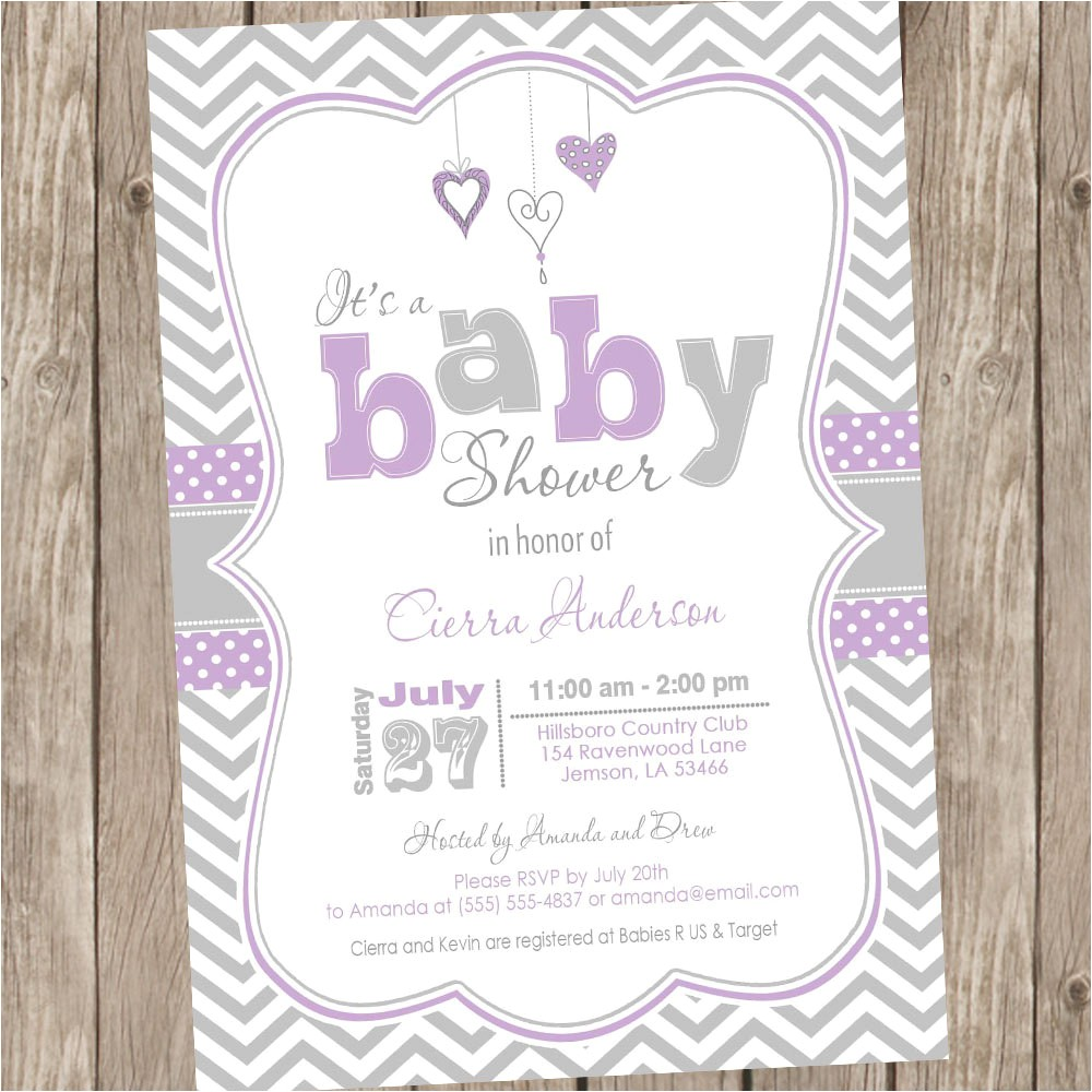lavender purple and grey baby shower