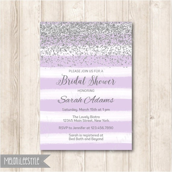 lavender purple and silver bridal shower