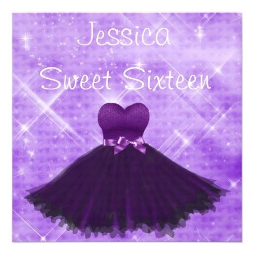 sweet 16 invitations