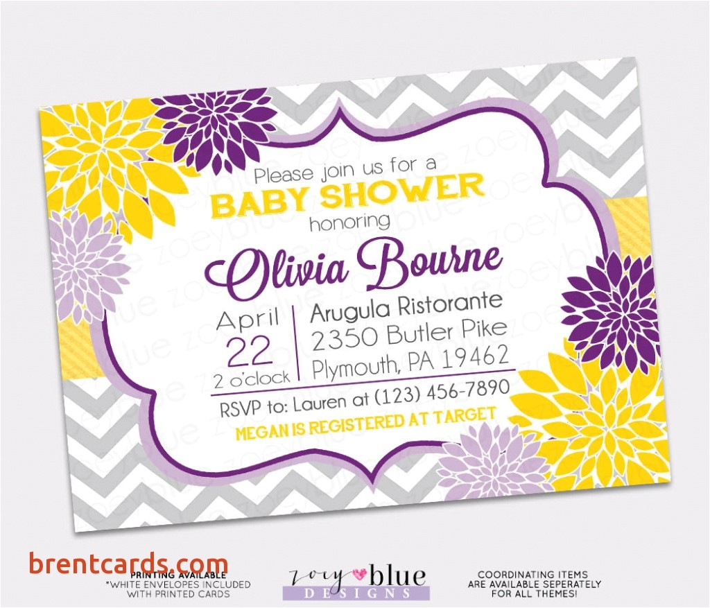 purple and yellow baby shower invitations purple and yellow baby shower invitation invitation card designs