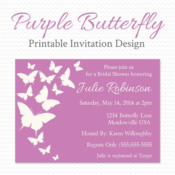 purple butterfly baby shower invitation butterfly