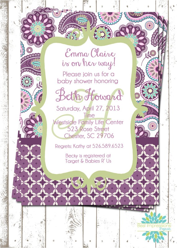 purple paisley a customizable baby