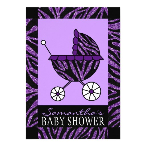purple zebra baby shower