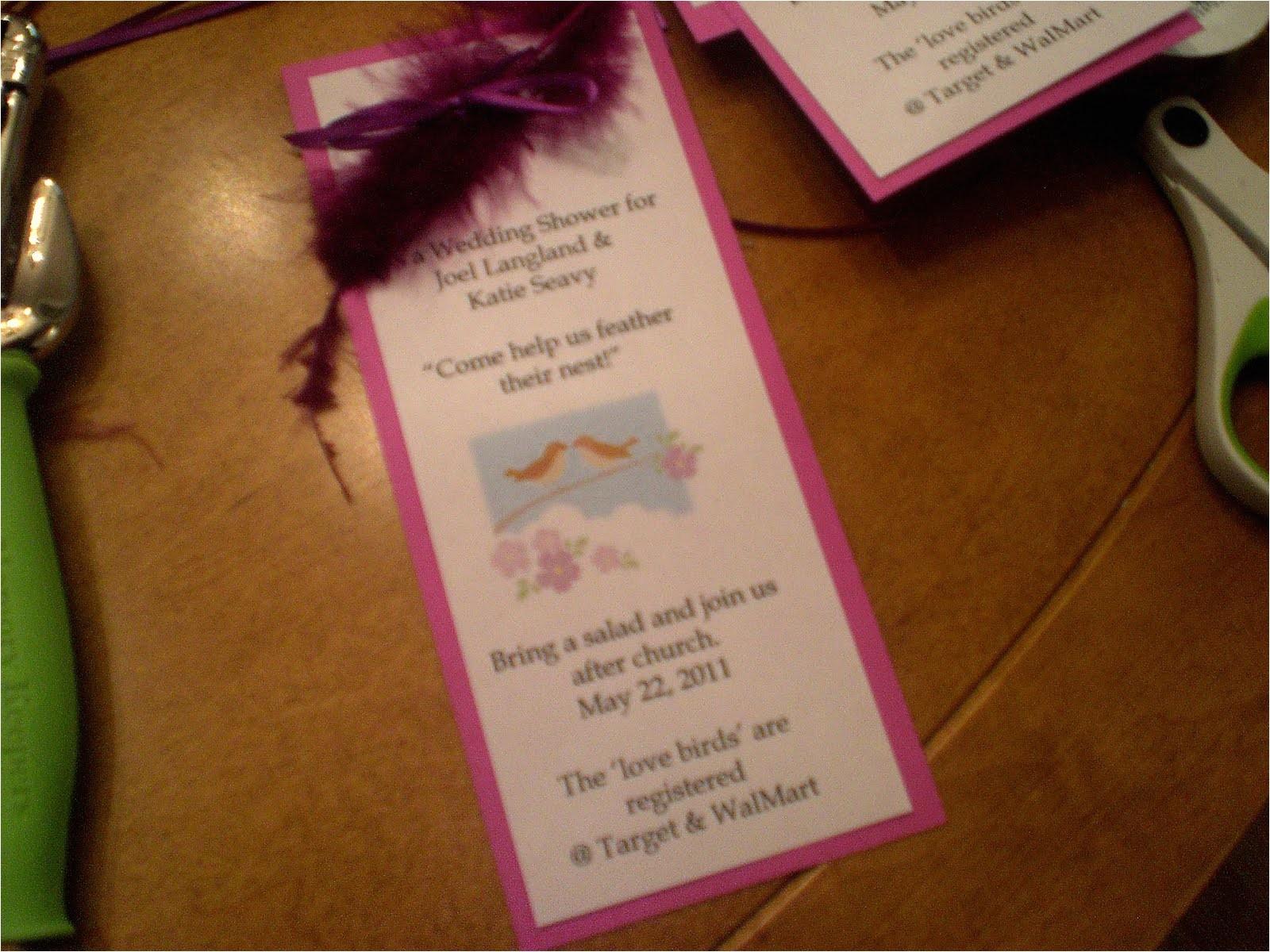 quick easy bridal shower invitations