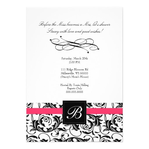 quick and easy bridal shower invitations