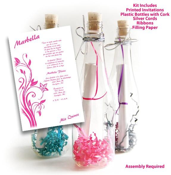 bottle 02 sweet 15 invitations kit
