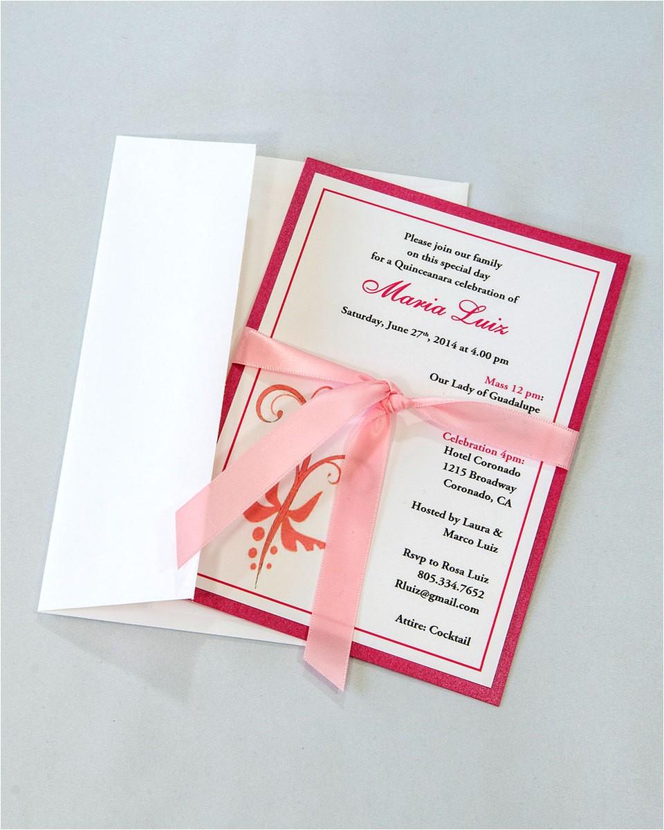 quinceanera bordered invitation