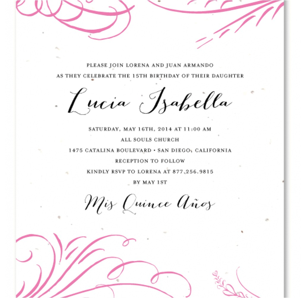 invitation wording quinceanera spanish