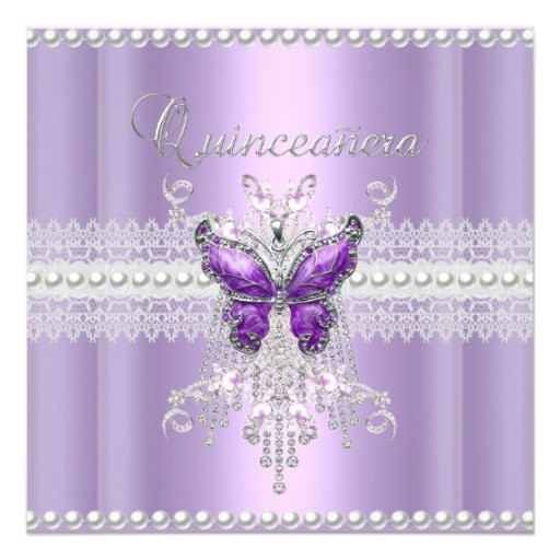 butterfly quinceanera invitations
