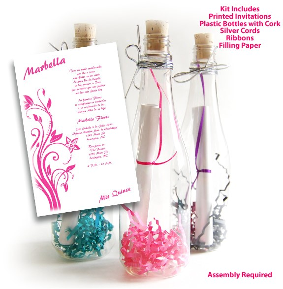 bottle 02 sweet 15 invitations kit