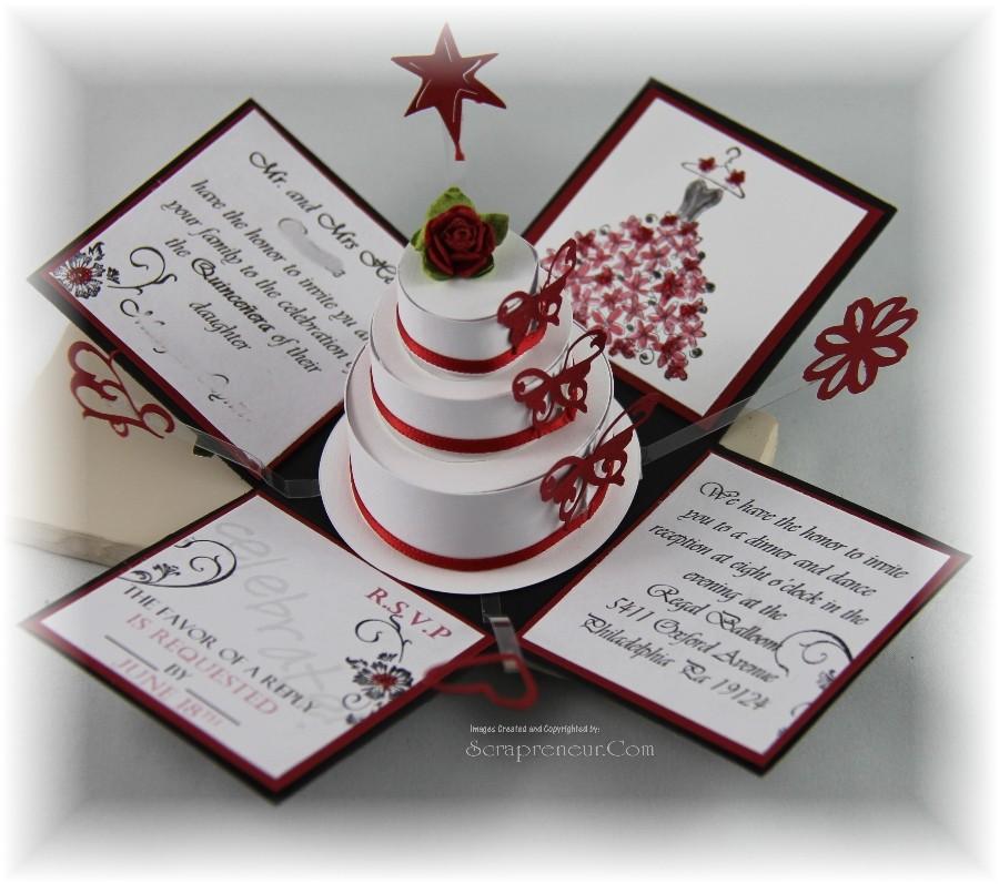 quincenera exploding invitation box