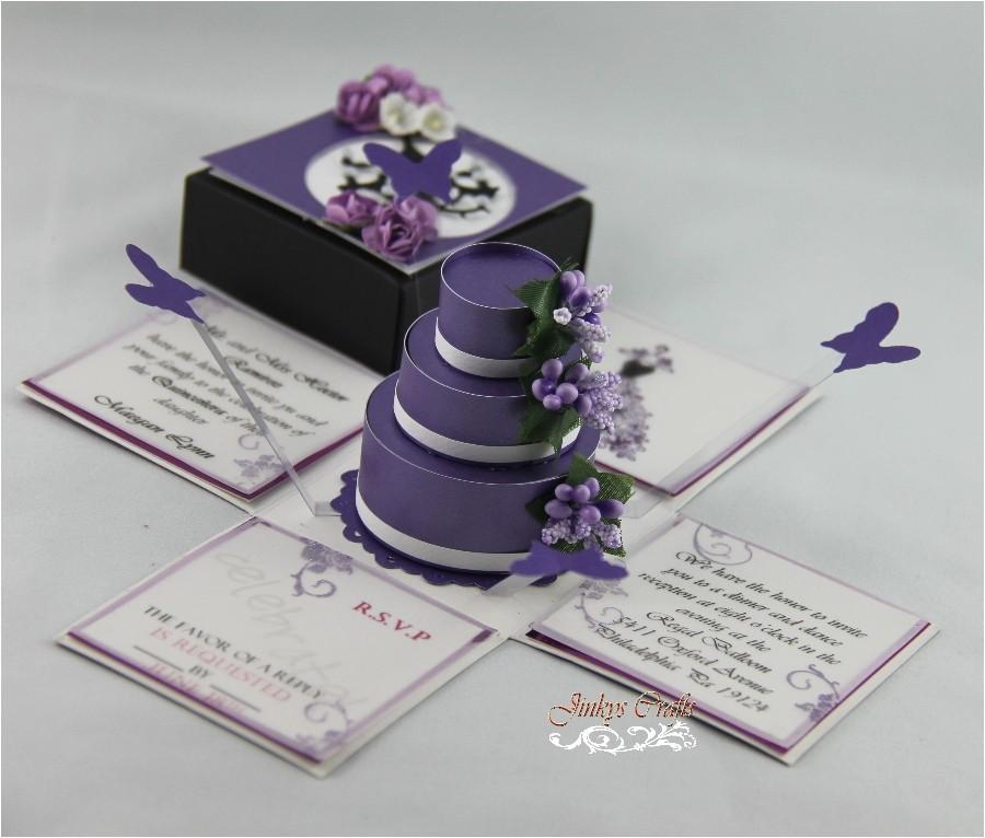 new exploding box invitations designs