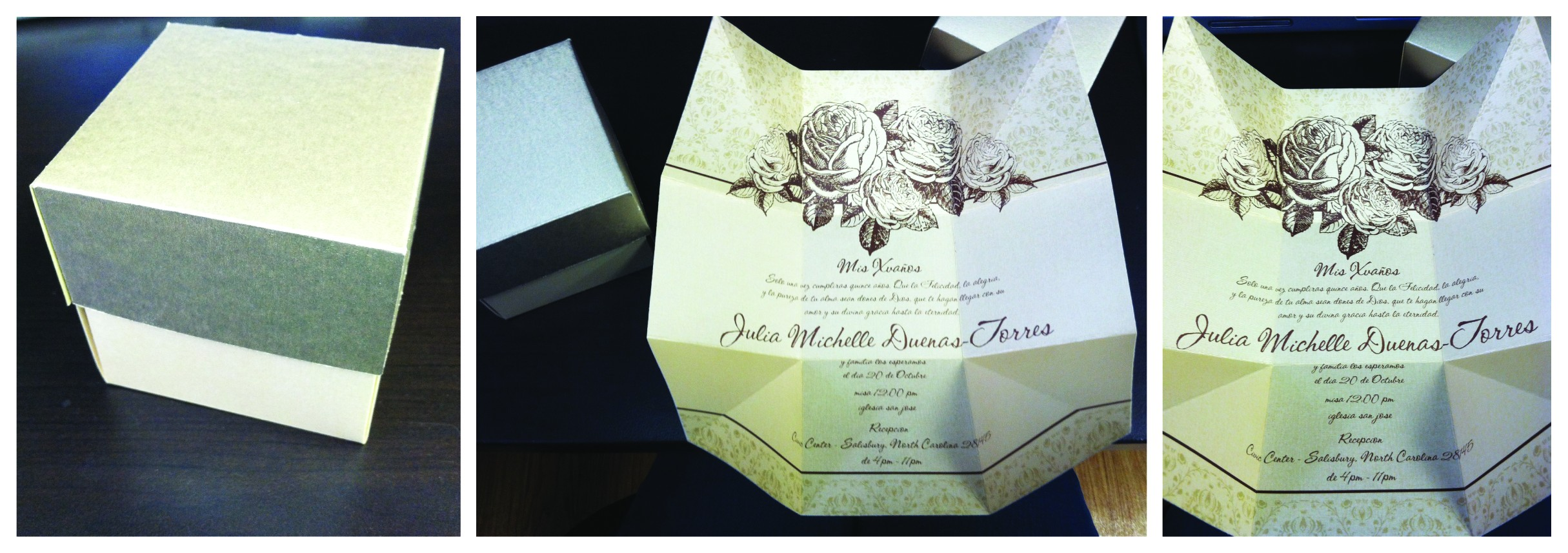 quinceanera box invitations