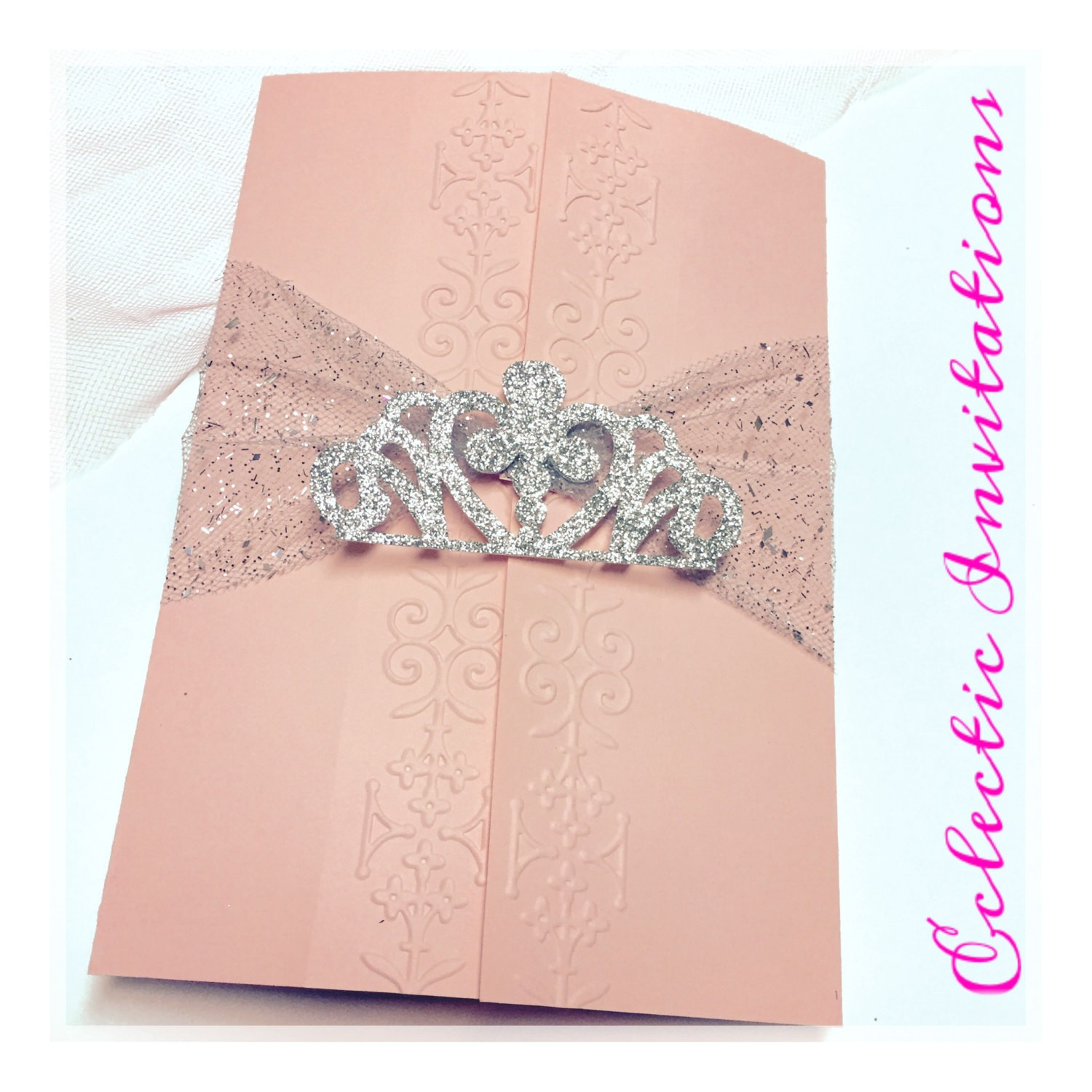 Quinceanera Invitations Online 50 Pink Princess Invitations Quinceanera Sweet 16 Birthday