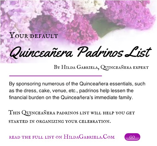 quinceanera padrinos list