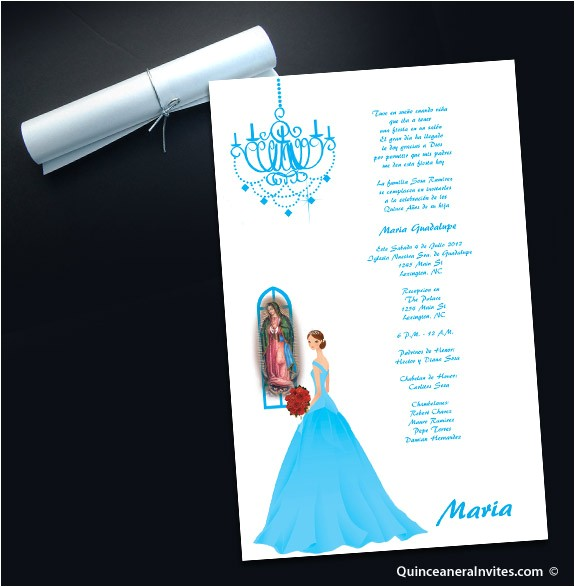 scroll invitations for quinceaneras