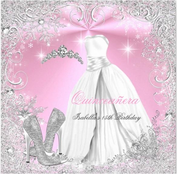 sample quinceanera invitation
