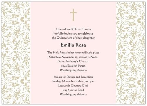 quinceanera invitations wording in spanish