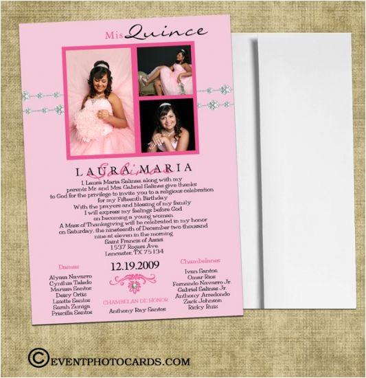 quinceanera invitations in spanish template
