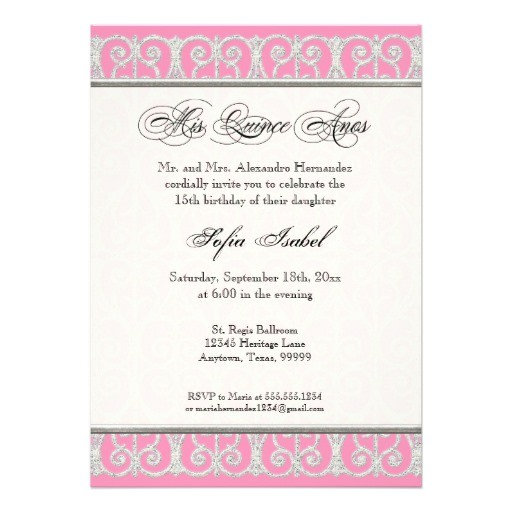 Quinceanera Invitations Verses Quince Anos Invitations Verses In Spainsh