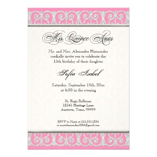mis quince invitations