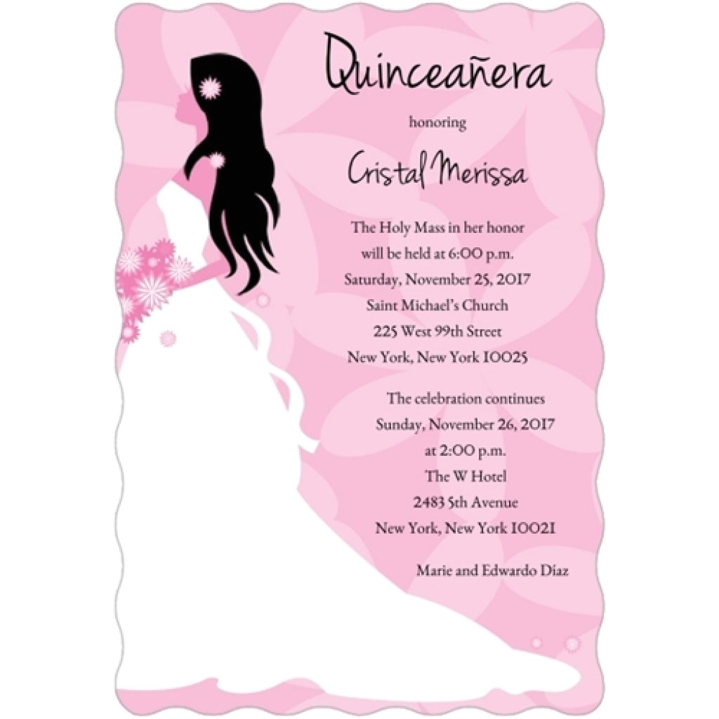 quinceanera invitation sample wording spanish