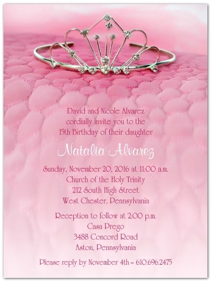 Quinceanera Quotes for Invitations In Spanish the Tiara Quinceanera Invitations Storkie