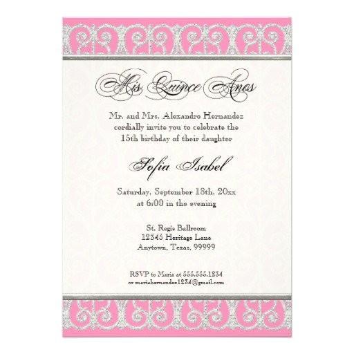 mis quince invitations