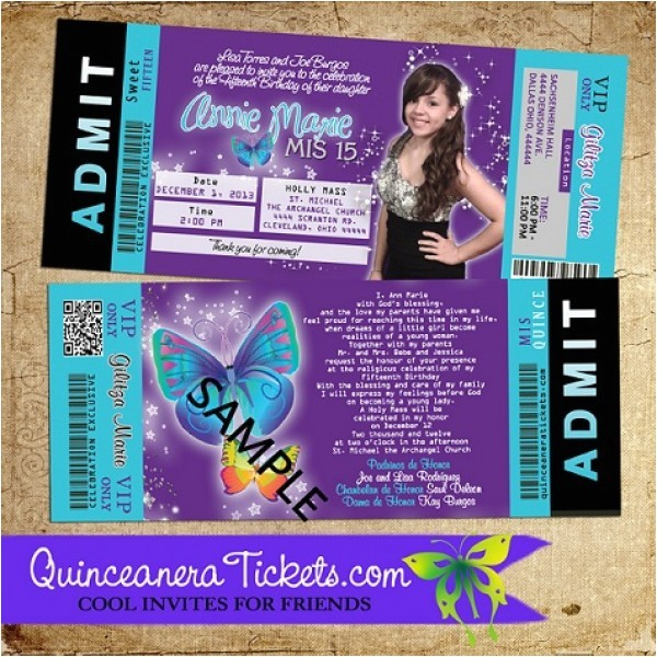 Quinceanera Ticket Invitations Free Printable Quinceanera Invitation Ticket