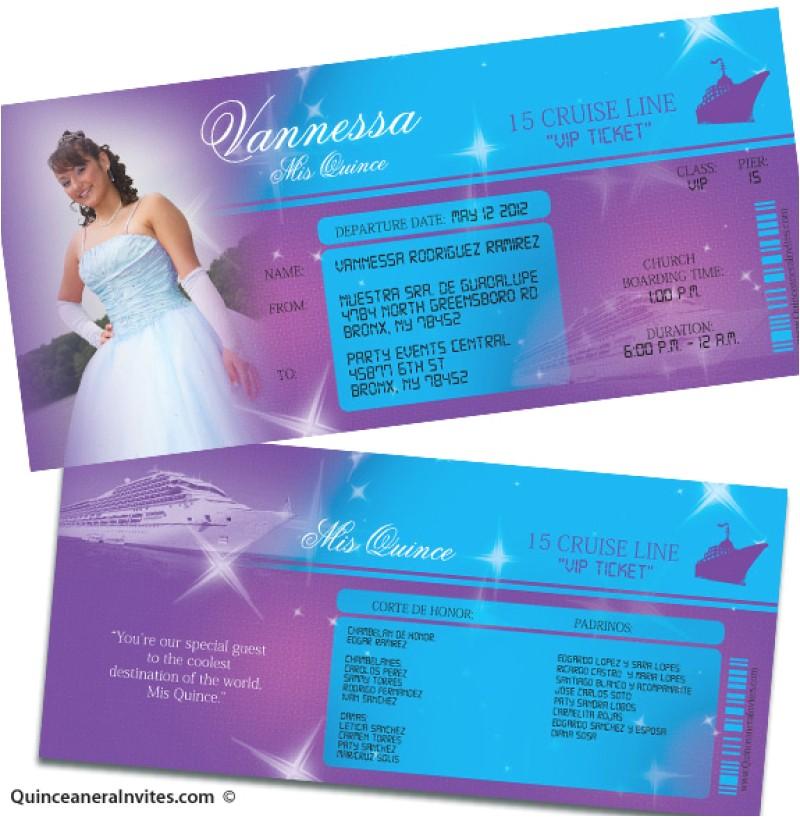 free printable quinceanera invitation ticket