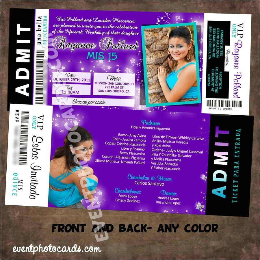 purple quinceanera invitations 2016