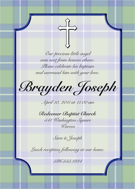 baptism invitation wording bible verses