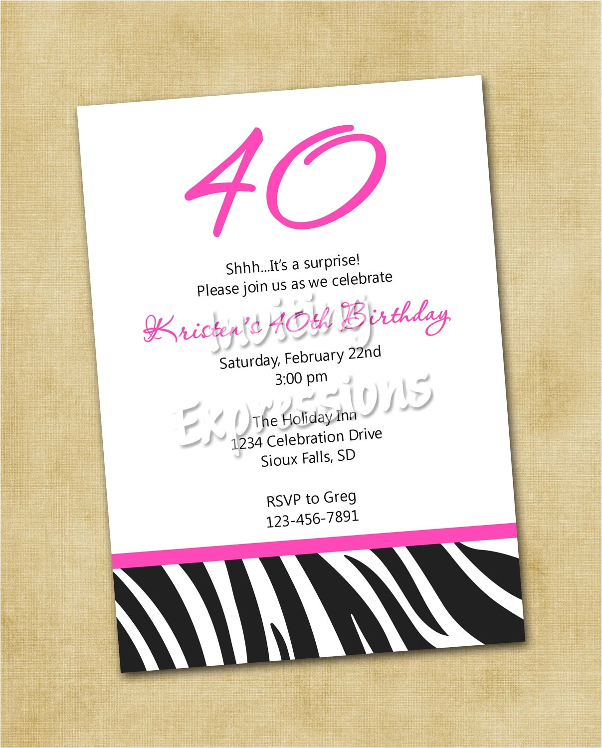 invitations for 40th birthday quotes