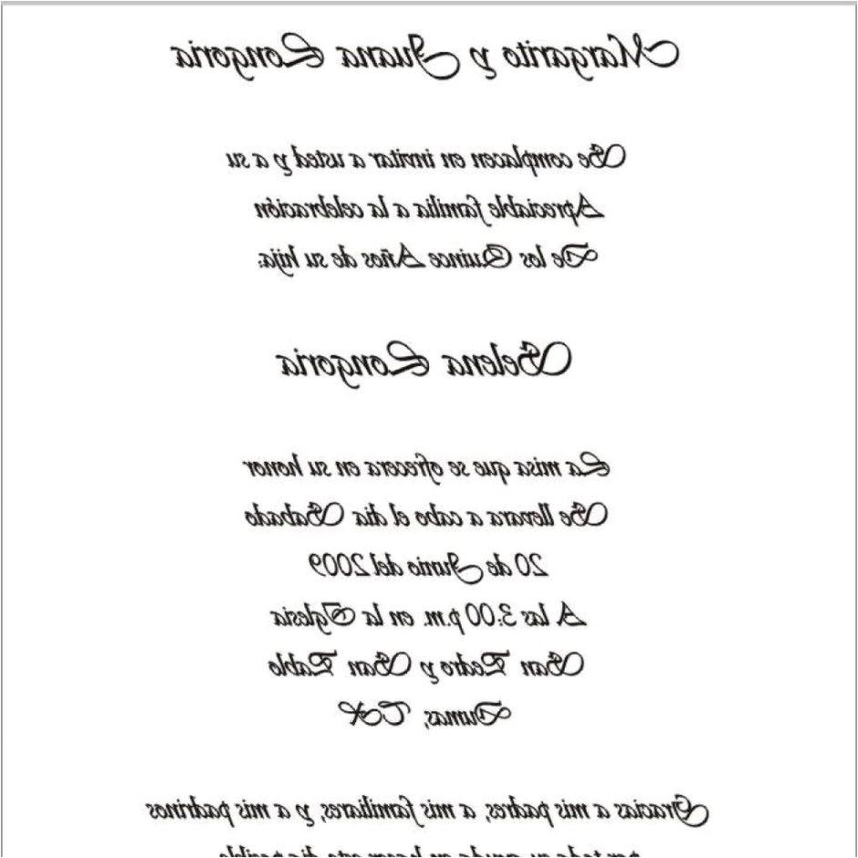 wedding invitation wording in spanish 48793
