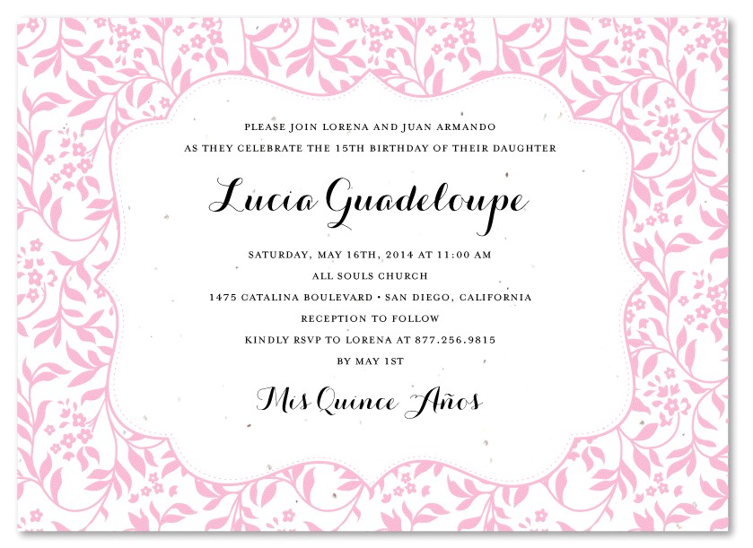 quinceanera invitation wording for invitations your party invitation templates by implementing elegant motif concept 5